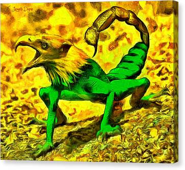 Scorpionfrogbird - Pa Canvas Print by Leonardo Digenio