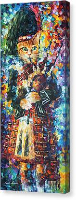 Scotish Cat Canvas Print by Leonid Afremov