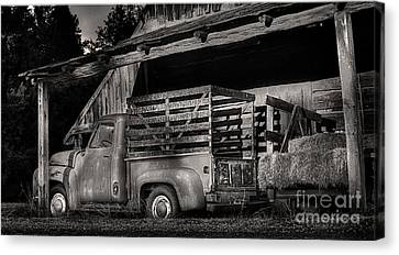 Scotopic Vision 5 - The Barn Canvas Print by Pete Hellmann