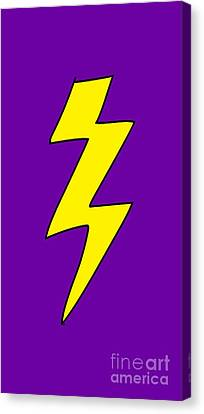 Scott Pilgrim Canvas Print - Scott Pilgrim Vs The World Lightning Bolt by Paul Telling