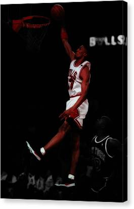 Ewing Canvas Print - Scottie Pippen Above The Rim by Brian Reaves