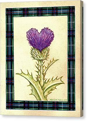 Canvas Print - Scottish Heart Thistle by Beth Clark-McDonal
