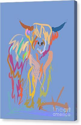 Scottish Highland Cow Canvas Print by Go Van Kampen