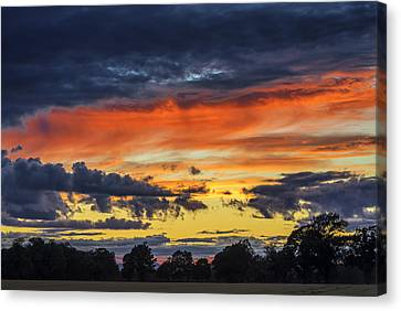 Canvas Print featuring the photograph Scottish Sunset by Jeremy Lavender Photography