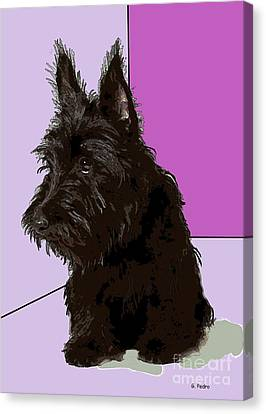 Scottish Terrier Canvas Print by George Pedro