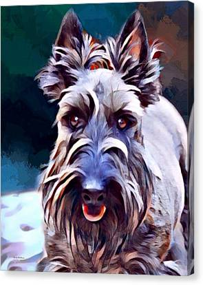 Scottish Terrier Painting Canvas Print by Scott Wallace