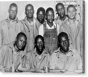 Race Discrimination Canvas Print - Scottsboro Boys In Jefferson County by Everett