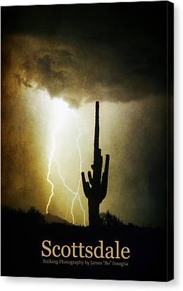 Scottsdale Arizona Fine Art Lightning Photography Poster Canvas Print by James BO  Insogna
