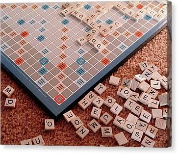 Scrabble Board Canvas Print