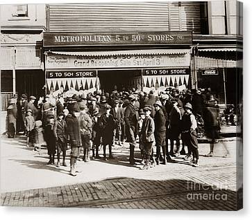 Scranton Pa Metropolitan 5 To 50 Cent Store Early 1900s Canvas Print