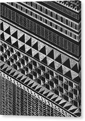 Scratchboard Kapa Patterns Large 8 Canvas Print by Cynthia Conklin