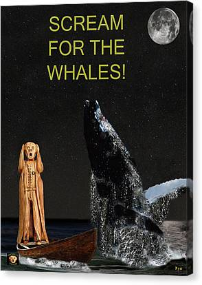 Scream For The Whales Canvas Print by Eric Kempson
