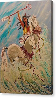 Scream Of Peace Canvas Print by V Boge