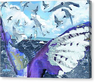 Canvas Print - Scream Of The Gulls by Seth Weaver
