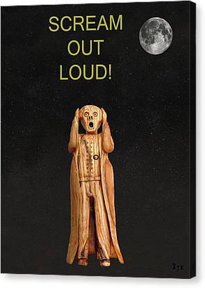 Scream Out Loud Canvas Print by Eric Kempson
