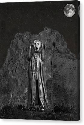 Scream Rock Canvas Print by Eric Kempson