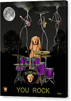 Scream Rock Soul Canvas Print by Eric Kempson