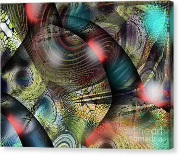 Screaming Spirals Canvas Print