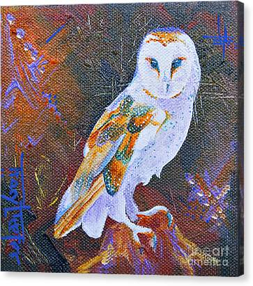 Screechy Canvas Print by Tracy L Teeter