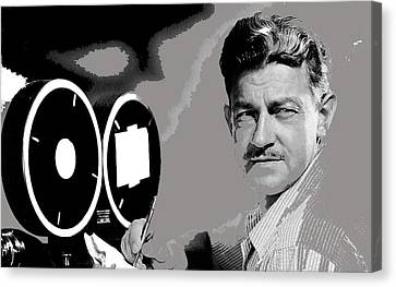 Sturges Canvas Print - Screenwriter And Director Preston Sturges Circa 1947 Color Added 2016 by David Lee Guss