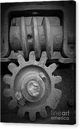 Canvas Print - Screw And Gear Bw by Chalet Roome-Rigdon