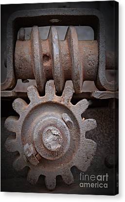 Canvas Print - Screw And Gear  by Chalet Roome-Rigdon