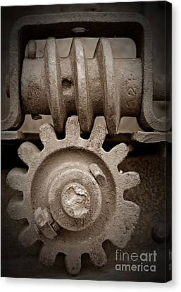 Canvas Print - Screw And Gear Sepia by Chalet Roome-Rigdon