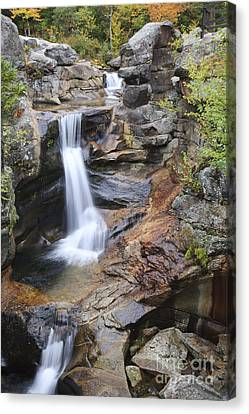 Screw Auger Falls - Maine  Canvas Print by Erin Paul Donovan