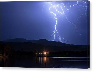 Canvas Print featuring the photograph Scribble In The Night by James BO Insogna