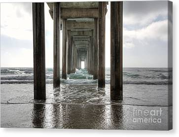 Scripps Pier Canvas Print by Eddie Yerkish