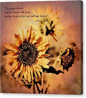 Canvas Print featuring the photograph Scripture - 1 Peter One 24-25 by Glenn McCarthy Art and Photography