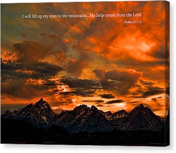 Scripture And Picture Psalm 121 1 2 Canvas Print