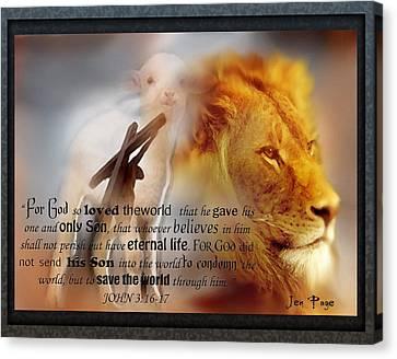 Scripture Art    Lamb Of God Canvas Print