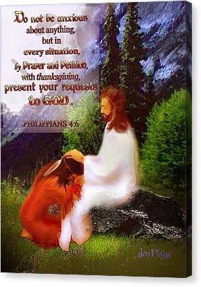 Scripture Art   Native Prayer Canvas Print