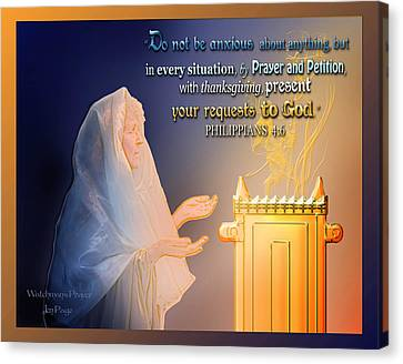 Scripture Art   Watchman's Prayer Canvas Print