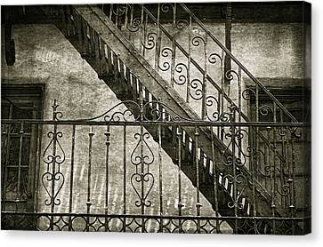 Scrolled Ironwork By H H Photography Of Florida Canvas Print by HH Photography of Florida