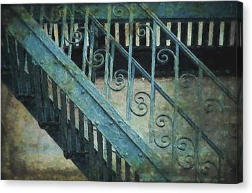 Scrolled Staircase By H H Photography Of Florida Canvas Print by HH Photography of Florida