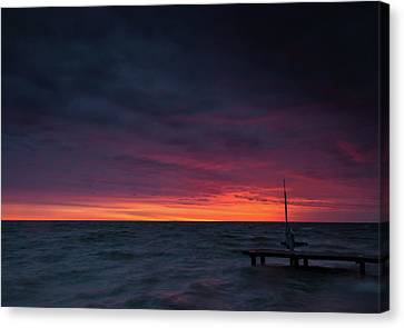 Scully Beach Park Sunrise Canvas Print by Cale Best