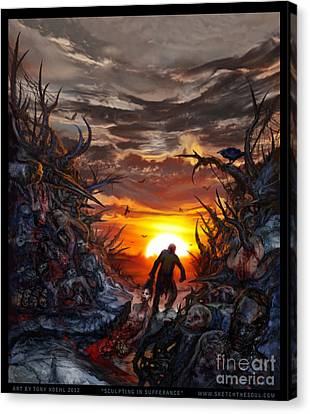 Sculpted In Sufferance Canvas Print by Tony Koehl