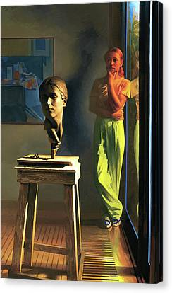 Sculptor Canvas Print by Michael Newberry