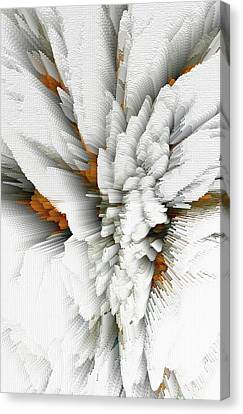 Canvas Print featuring the digital art Sculptural Series Digital Painting 05.072311 by Kris Haas