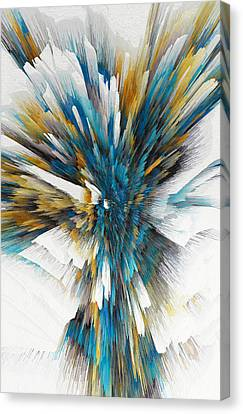 Canvas Print featuring the painting Sculptural Series Digital Painting 08.072311ex490l by Kris Haas