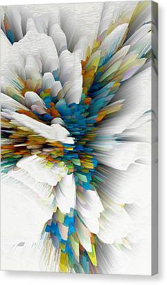 Canvas Print featuring the digital art Sculptural Series Digital Painting 08.072311wscvssex490l by Kris Haas