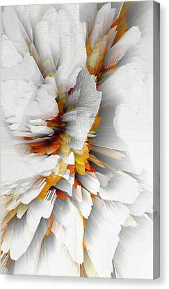 Canvas Print featuring the digital art Sculptural Series Digital Painting 22.120210 by Kris Haas
