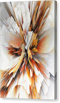Canvas Print featuring the digital art Sculptural Series Digital Painting 22.120210eext290lsqx2 by Kris Haas