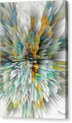 Canvas Print featuring the digital art Sculptural Series Digital Painting 23.102011windextsc590l by Kris Haas