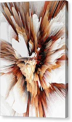 Canvas Print featuring the digital art Sculptural Series Digital Painting 23.120210ext5100l by Kris Haas
