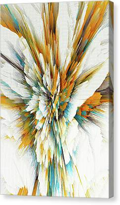 Canvas Print featuring the digital art Sculptural Series Digital Painting 05.072311ex590lvs.jpg  by Kris Haas