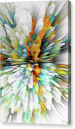 Canvas Print featuring the digital art Sculptural Series Painting23.102011windblastsccvsext4100l by Kris Haas