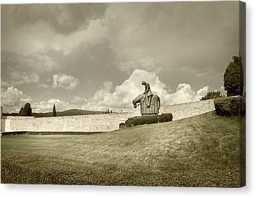 Canvas Print featuring the photograph Sculpture - Assisi by John Hix
